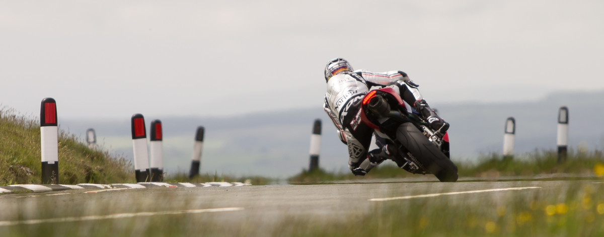 Motorbike racing at TT Isle of Man competition, secured by G4S