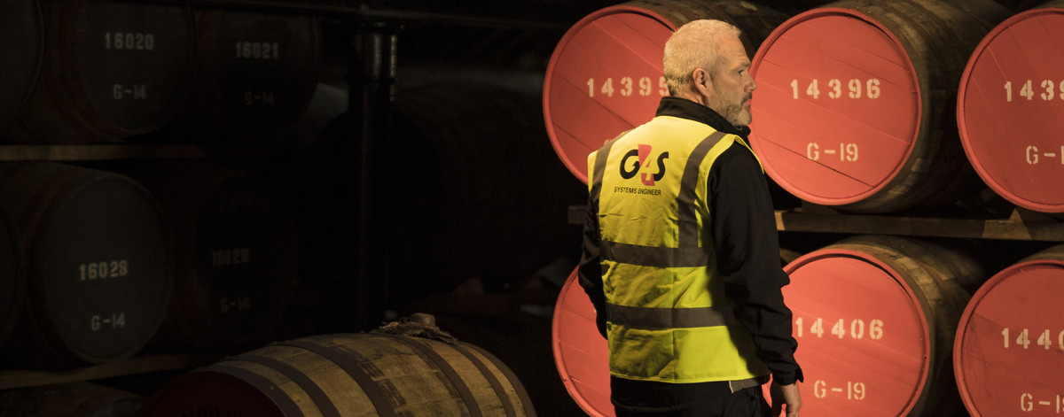 G4S service engineer at the Glenmorangie distillery